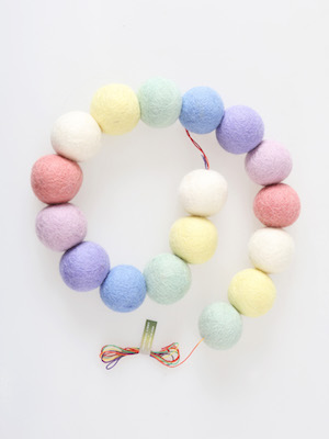 pompom garland _ bebe cotton candy