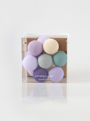 mini cocoball light _ rustic lavender
