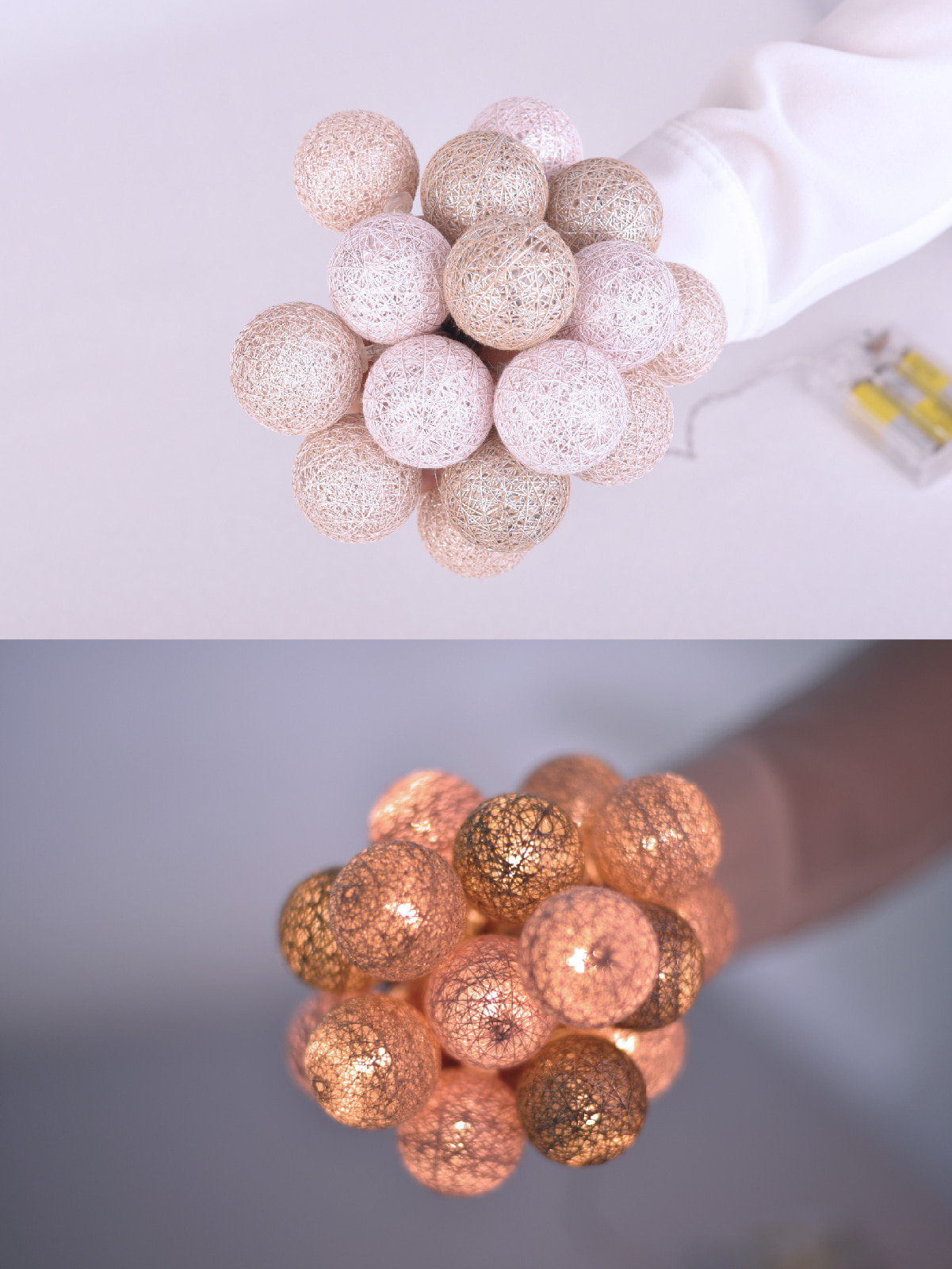 glitter ball_rose gold