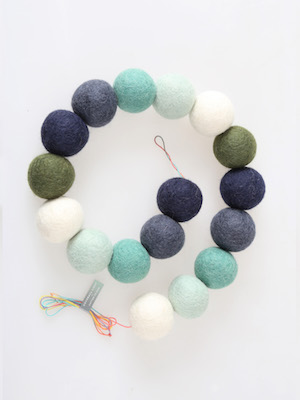 pompom garland _ soda mint